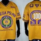 Omega Psi Phi Gold short sleeve football jersey 100 year centennial jersey NEW