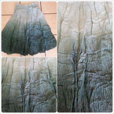 Womens Light Green  tie dye pin stripe Skirt Women's dress casual skirt size S
