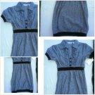 Derek Heart Short sleeve Dark Blue Dress Lady's Cotton blend casual dress M