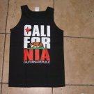 State of California black short sleeve T shirt California short sleeve tank top