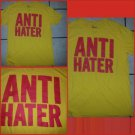 Anti-Hater yellow short sleeve T shirt Gold Red ANTI HATER Tee shirt M NWOT