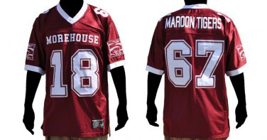 Morehouse short sleeve football jersey Morehouse Maroon Tigers football jersey
