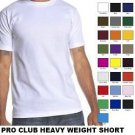 SKY BLUE SHORT SLEEVE T SHIRT by PRO CLUB HEAVY WEIGHT T SHIRT S-7X 6 PACK