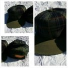 Mens Womens Green Brown Blue Plaid Baseball Cap Hat Unisex Adjustable Hat Cap