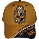 ALPHA PHI ALPHA FRATERNITY GOLD BLACK BASEBALL HAT 1906 A PHI A BASEBALL HAT #4
