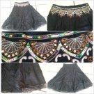 Womens Black brown Skirt  Women's sequence beeded dress casual skirt size M