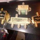 3-WAY 2-WAY SPLITTER BOX TV SET TRU SPEC CABLE TV SPLITTER 4PC SPLITTER LOT