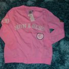 Womens pink long sleeve Negro league sweater S-3X Kansas City Monarchs sweater