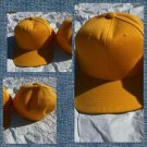 Mens Womens Gold baseball Cap Hat Solid color fitted baseball cap 6-7 5/8