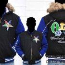 Order of the Eastern Star Black Wool Bomber Jakcet M-5X OES Wool Hoodie Coat NWT