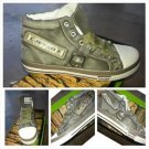 Mens Khaki Canva high top denim sneaker shoe High Top Fashion sneaker shoe 7-8US