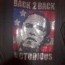 President Barack Obama Black Short sleeve T shirt Back To Back Victory Tee M-6X
