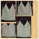 Feline Ladies Womens sleeveless Tan polyester Blouse Zip up sleeveless Top M
