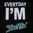 Black short sleeve t shirt Every Day I'm Shuffling T shirt 80's Vintage T shirt