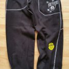 BROOKLYN NETS Black Zip Way warm up pants NBA BROOKLYN NET SHOOT AROUND SWEATS M