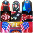 JEFF HAMILTON NBA WESTERN CONFERANCE WOOL LEATHER JACKET VINTAGE NBA JACKET 5X