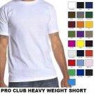 GREEN SHORT SLEEVE T SHIRT by PRO CLUB HEAVY WEIGHT T SHIRT S-7X 6 PACK