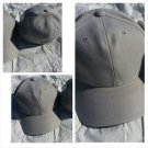 Mens Womens Light Gray baseball Cap Hat Solid color fitted baseball cap 7-7 5/8