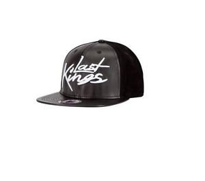 LAST KINGS BLACK  BASEBALL CAP LAST KINGS BUCKLE BACK STRAP BASEBALL CAP HAT