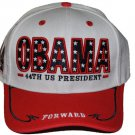 President Barack Obama White Red baseball cap hat 44th President Baseball Cap #2