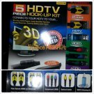 HDTV KIT BLUE RAY CABLE BOX 3D GAMING AUDIO EXTREME HDTV 5 PIECE HOOK UP KIT NEW