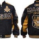 Freemason Masonic Race Jacket Black Gold Masonic Freemason Fraternity Coat M-5X