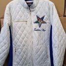Order of the Eastern Star Jacket O.E.S White Sorority Padded Jacket S-4X