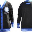 ZETA PHI BETA Black Blue Light weight Long Sleeve Cardigan sweater S-3X