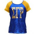 SIGMA GAMMA RHO SHORT SLEEVE SEQUENCE SHIRT CASUAL TEE S-3X #1