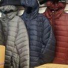Navy Blue Bubble Hoodie Jacket Long Sleeve Puffer Jacket Mens Winter Coat S-3X
