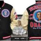 President Barack Obama Black Wool Varsity Jacket Black Jacket Wool Coat S-5X