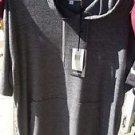 Charcoal Gray short sleeve hoodie Top Men's short sleeve hoodie shirt top M-2XL