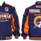 Virginia State University Race Jacket HBCU Trojans Twill Jacket Race Coat M-4X