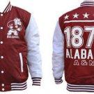 Alabama A&M University Light Weight Letterman Jacket Mens Varsity Jacket M-4X