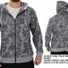 Mens floral print Zip Up Hoody Hoodie Jacket Fashion Casual Hoody Jacket S-2XL