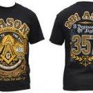 Masonic Freemason  short sleeve T-shirt MASON MASONRY SHRINER MASON T- shirt