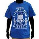 PHI BETA SIGMA blue short sleeve T shirt Phi Beta Sigma fraternity T-shirt M-4X