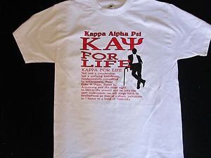 Kappa Alpha Psi White short sleeve T-Shirt PHI NU PI Fraternity T shirt M-5X DF