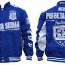 Phi Beta Sigma Fraternity Race Jacket  Phi Beta Sigma Blue White Race Coat M-5X