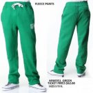 AKADEMIKS green casual sweat pants Mens fleece warm up gym jogging pants S-XL