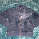 Gray track jacket Mens designer polyester track jacket Casual track jacket