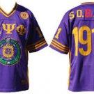 Omega Psi Phi Purple Gold short sleeve football jersey Q-Dog Omega Jersey M-5X