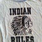 INDIAN RULES tie-dye short sleeve T-shirt Blue short sleeve Tie Dye Tee M