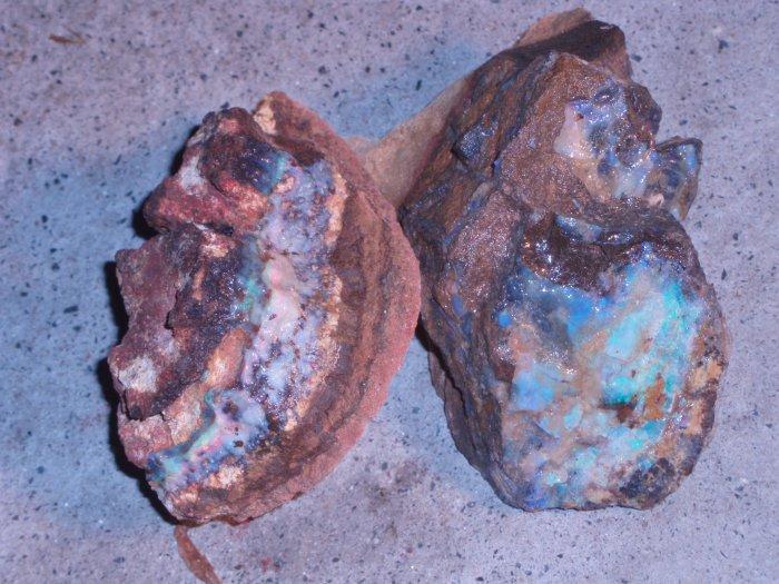 Boulder Opal - Parcel of 6 stones various size approx 1200gr