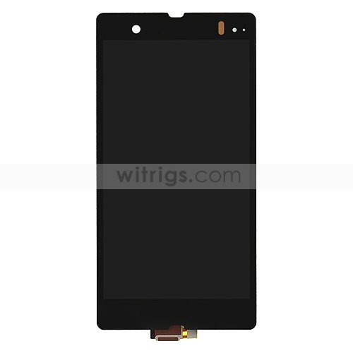 Complete LCD Screen with Digitizer for Sony Xperia Z Black OEM