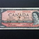 Canada Banknote - BC-38b - $2.00 - 1954 Issue - Modified