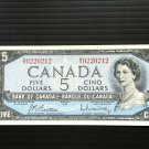 Canada Banknote - BC-39b - $5.00 - 1954 modified issue