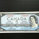 Canada Banknote - BC-39c - $5.00 - 1954 modified issue