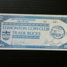 Canada Fantasy Banknote - Edmonton Coin Club Bucks 1987