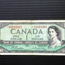 Canada Banknote - BC-37bA - $1.00 - 1954 - Rare Replacement Serial # only 400,000 printed